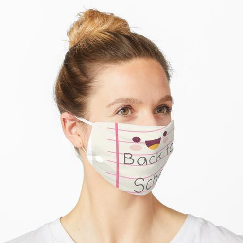 Back to School Liniertes Papier Maske