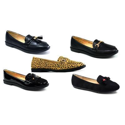 Women's Slip-On Shoes: Leopard Suede/UK 3