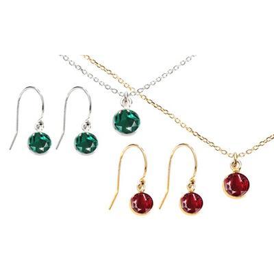 Parures en argent cristaux Swarovski® : Collier / Siam / Or