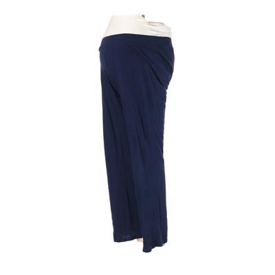 Motherhood Casual Pants - Mid/Reg Rise: Blue Bottoms - Size Small Maternity