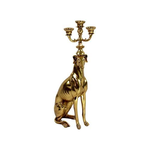 VOSS Design »Windhund« Kerzenhalter gold für 3 Kerzen