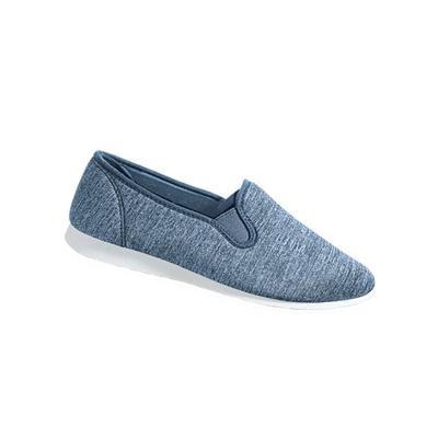 Haband Women's Lite Cruiser Slip-Ons, Blue Denim, Size 10 Wide, W
