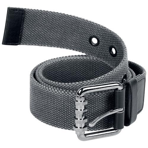 Black Premium by EMP Grauer Canvasgürtel Gürtel - grau