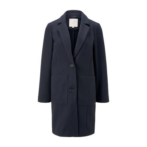 TOM TAILOR DENIM Damen Blazer-Mantel aus Fleece, blau, Gr.XS