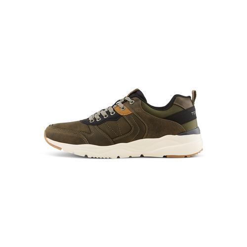 TOM TAILOR Herren Sneaker mit breiter Sohle, grün, Gr.43
