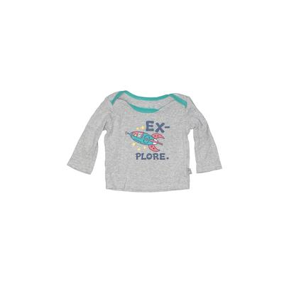 Good Kids by Life is Good - Good Kids by Life is Good Long Sleeve T-Shirt: Gray Tops - Size 3-6 Month