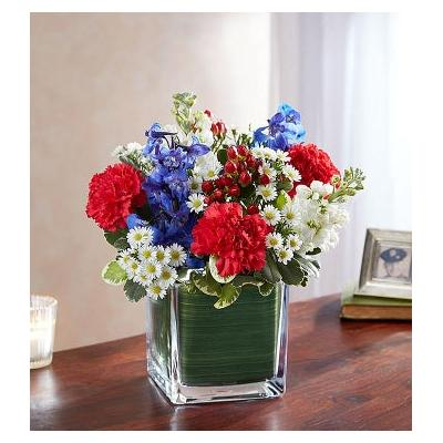 Healing Tears Red, White & Blue Small by 1-800 Flowers
