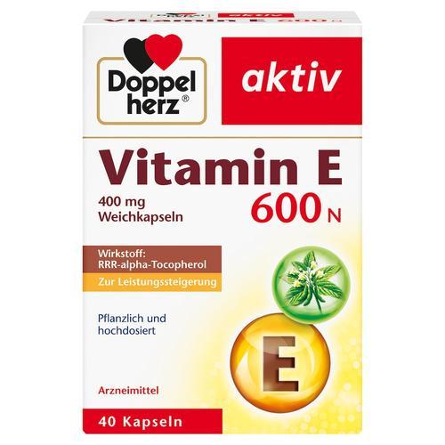 Doppelherz Doppelherz aktiv Vitamin E 600 N Weichkapseln Vitamin E 20.0 g