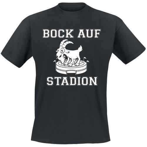 Bock auf Stadion Herren-T-Shirt - schwarz