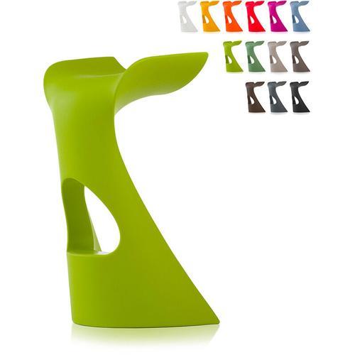 Moderner Designhocker für Bars und Clubs Slide Koncord | Grün