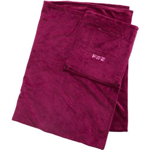 Reise-Decke mit integrierter Tasche, rot