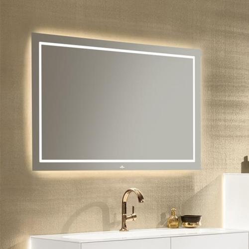 Villeroy & Boch Finion LED-Spiegel B: 120 H: 75 T: 4,5 cm mit indirekter Beleuchtung G6001200, EEK: A+