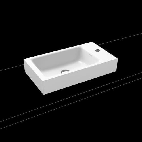 Kaldewei Puro Aufsatz-Handwaschbecken B: 55 H: 10 T: 30 cm weiß, mit 1 Hahnloch 906906013001