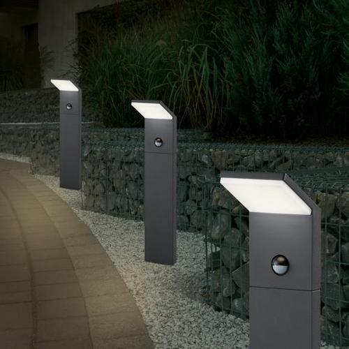 TRIO Pearl LED Pollerleuchte mit Bewegungsmelder B: 10 H: 50 T: 10 cm, anthrazit 521169142, EEK: A+