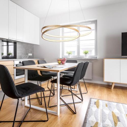Paul Neuhaus Roman LED Pendelleuchte mit Dimmer Ø 72 H: 120 cm, gold 2474-12, EEK: A+