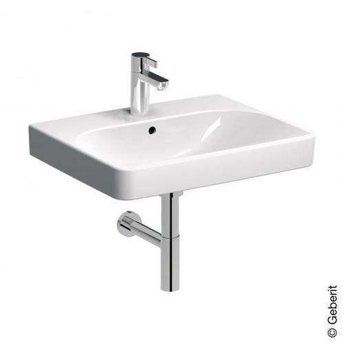 Geberit Smyle Square Waschtisch B: 60 T: 48 cm weiß, mit KeraTect, mit 1 Hahnloch 500229018
