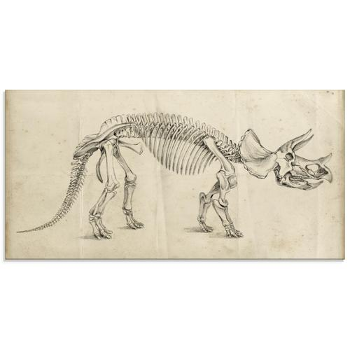 Artland Glasbild »Dinosauria Lehre II«, Dinosaurier, (1 St.)