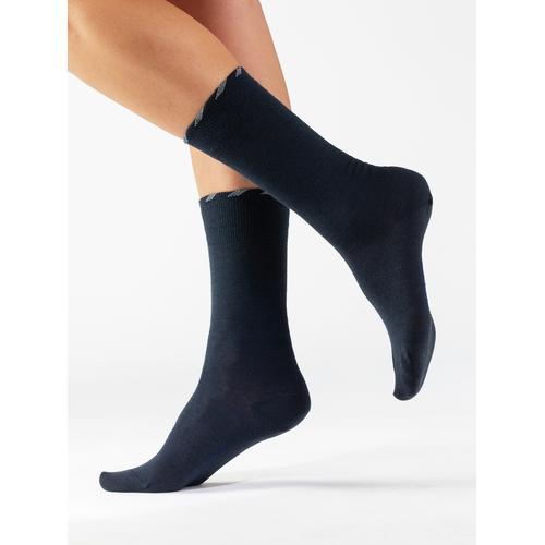 Avena Herren Lambswool-Socke Antibakteriell 2P. Blau