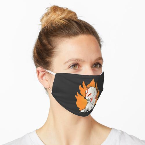 Flaming Okami Maske