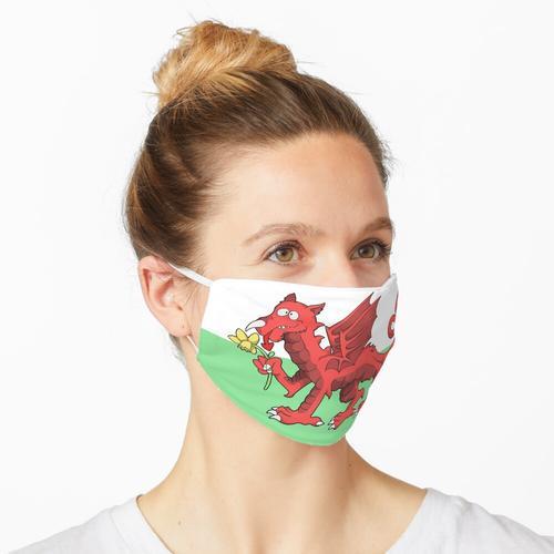 Walisischer Drache Maske