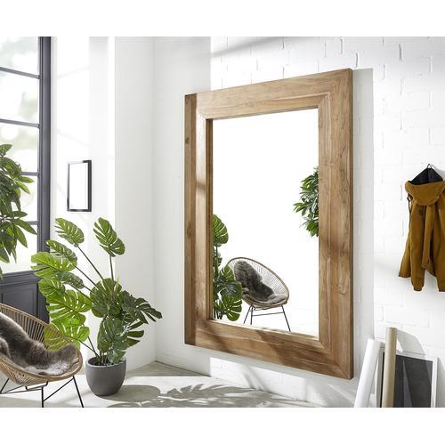 DELIFE Spiegel Wilibor 230x160 cm Natur Teak massiv, Spiegel