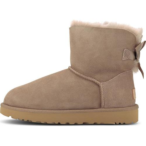 UGG, Boots Mini Bailey Bow Ii in taupe, Boots für Damen Gr. 40