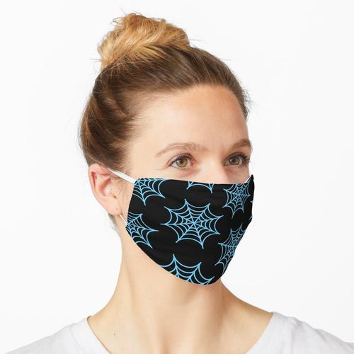 BLAUES SPIDERWEB Maske