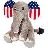 Frisco Americana Elephant Textured Plush Squeaky Dog Toy