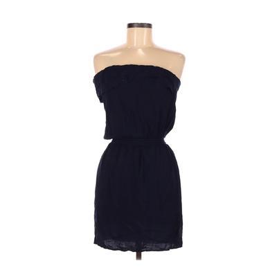 Spring Street Casual Dress - Mini: Blue Solid Dresses - Used - Size Medium