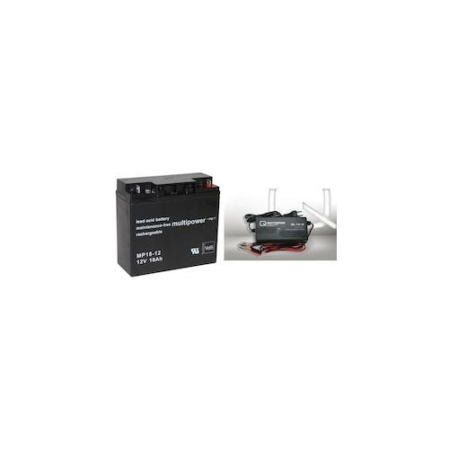 Set Q-Batteries BL 12-5 Ladegerät 5A + Multipower MP18-12 Batterie Bleigel Akku 12V 18Ah 17Ah