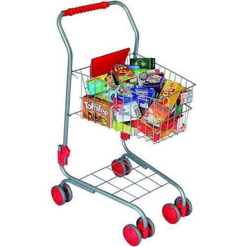 Einkaufswagen mit Inhalt, bunt