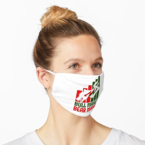 Bullenmarkt - Bärenmarkt - Börsenmarkt Maske