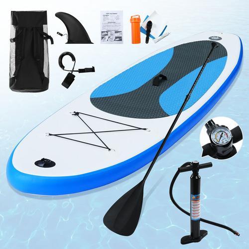 Aufblasbares Stand Up Paddle Surfbrett -320 x 76 x 15 cm Tragbares aufblasbares SUP Board Set Cool