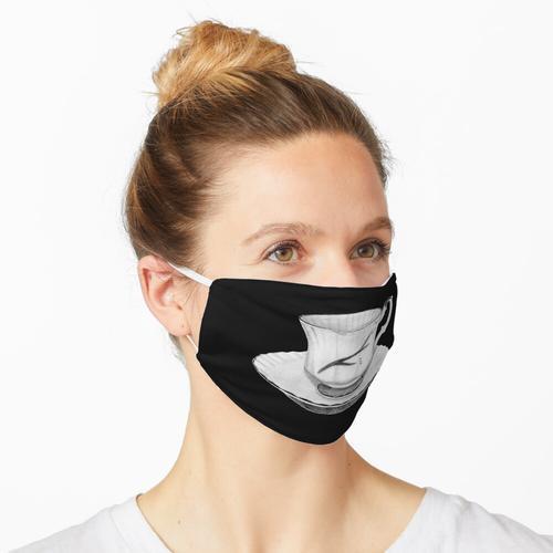 Abgebrochene Tasse Maske