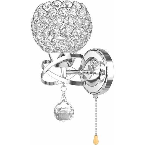 Moderne Wandleuchte Kristall Wandleuchte Halter mit Power Pull Schalter Kristall Wandleuchte E14