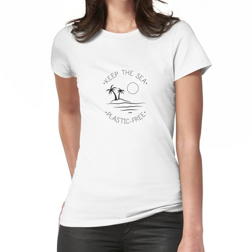 Halten Sie das Meer plastikfrei Frauen T-Shirt