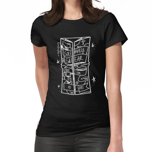 Kartengestaltung s / w Frauen T-Shirt