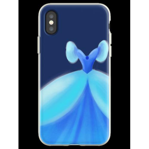 Blaues Ballkleid Flexible Hülle für iPhone XS