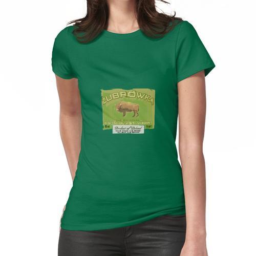 Żubrówka Bison Grass Vodka Etikettendesign Frauen T-Shirt