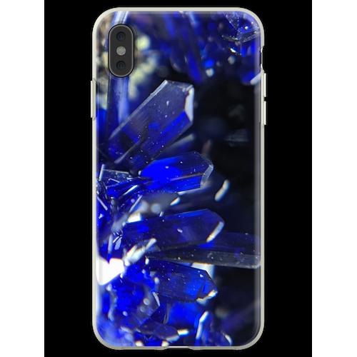 Azurit-Kristalle Flexible Hülle für iPhone XS Max