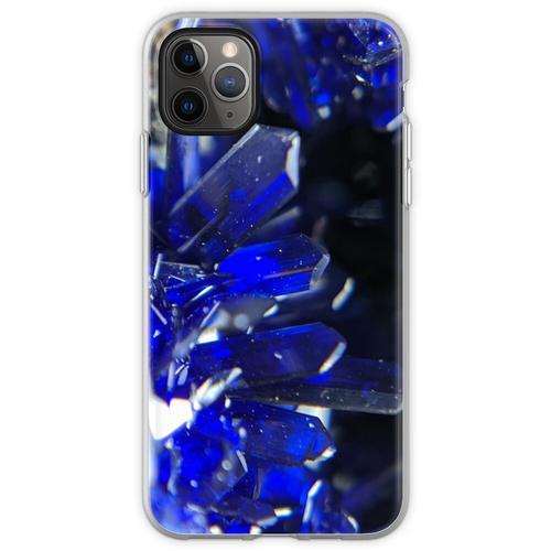 Azurit-Kristalle Flexible Hülle für iPhone 11 Pro Max