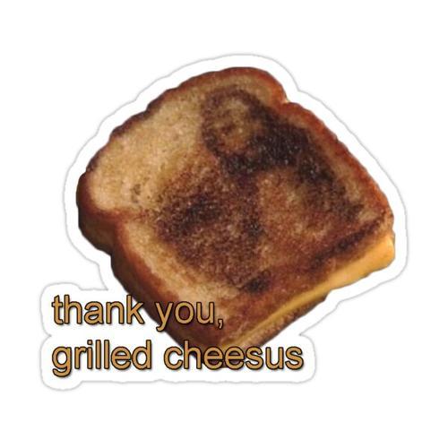 Grilled Cheesus Sticker