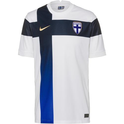 Nike Finnland 2021 Heim Trikot Herren in white-truly gold, Größe M