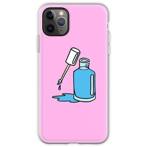 Blauer Nagellack Flexible Hülle für iPhone 11 Pro Max