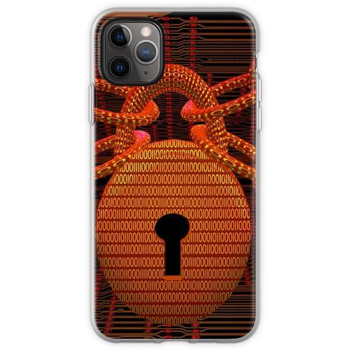Digitales Schloss Flexible Hülle für iPhone 11 Pro Max