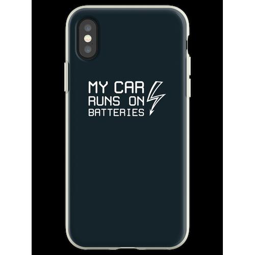 Mein Auto fährt mit Batterien - Solarstrom für Elektroautos - Balsami Flexible Hülle für iPhone XS