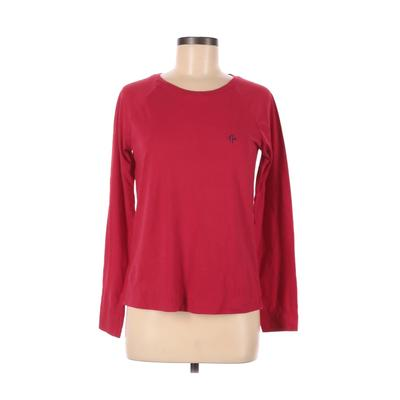 Tommy Hilfiger Sweatshirt: Red Solid Clothing - Size Small
