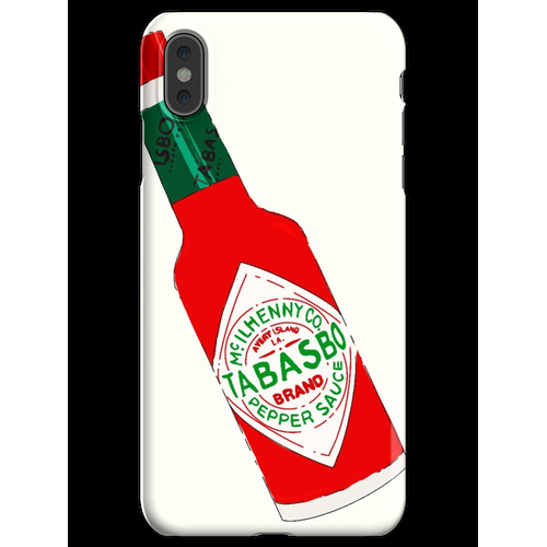 Tabasco Hot Sauce Flasche (Tabasbo) iPhone XS Max Handyhülle