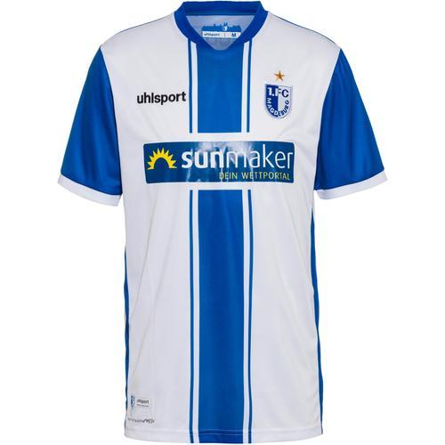 Uhlsport 1. FC Magdeburg 20-21 Heim Trikot Herren in weiß-azurblau, Größe 3XL