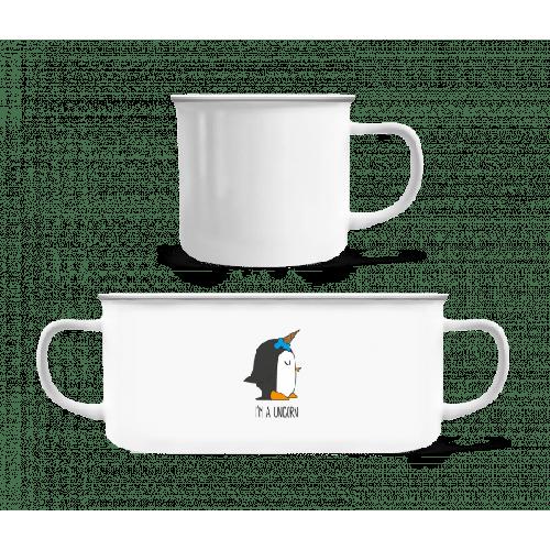 I'm A Unicorn Penguin - Emaille-Tasse
